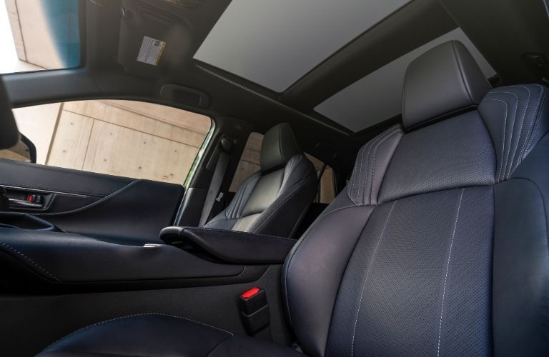 2021 Toyota Venza front seats looking up
