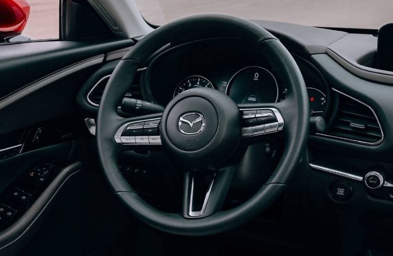 2020 Mazda CX-30 interior dash and wheel view