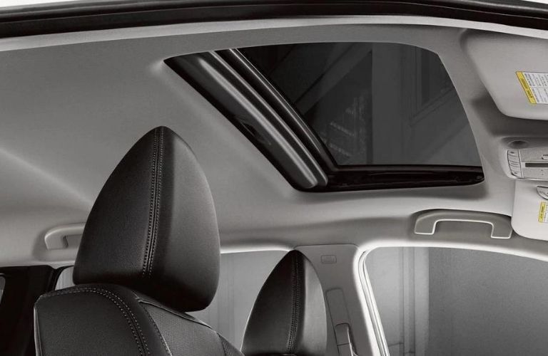 Interior view of the moonroof inside a 2020 Nissan Rogue Sport