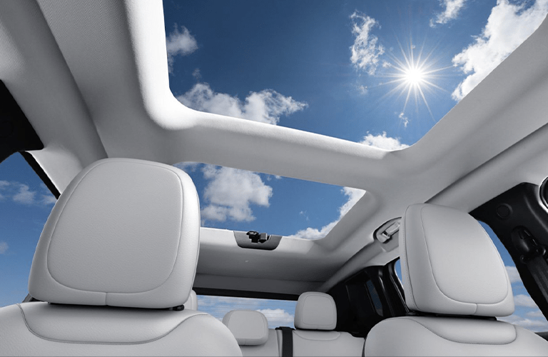 2020 Jeep Renegade with a panoramic roof