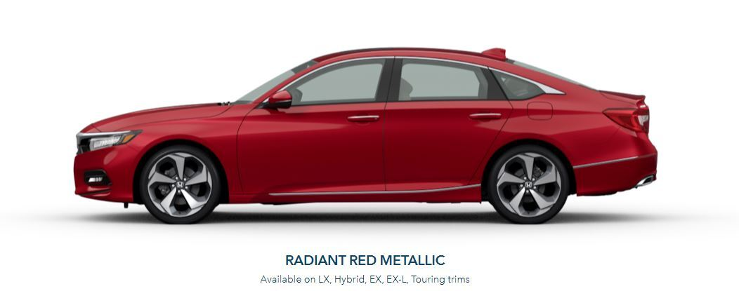 2020 Honda Accord in Radiant Red Metallic