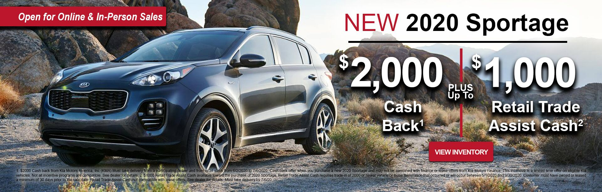 June Sportage Retail Offer
