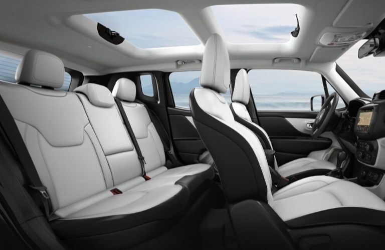 Interior view of the seating available inside the 2020 Jeep Renegade