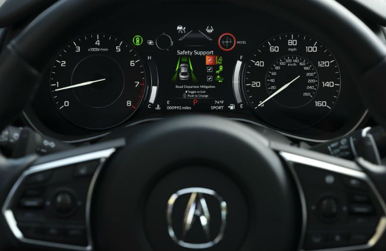 A photo of the gauge cluster in the 2021 Acura TLX.
