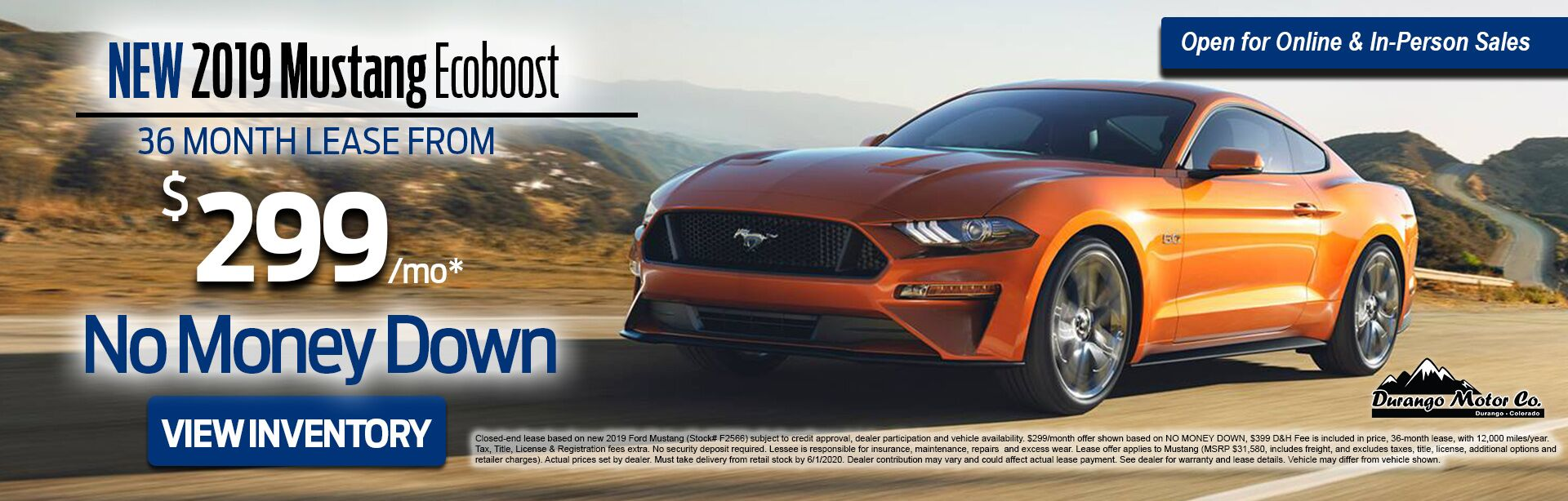 May Ford Mustang Lease Offer
