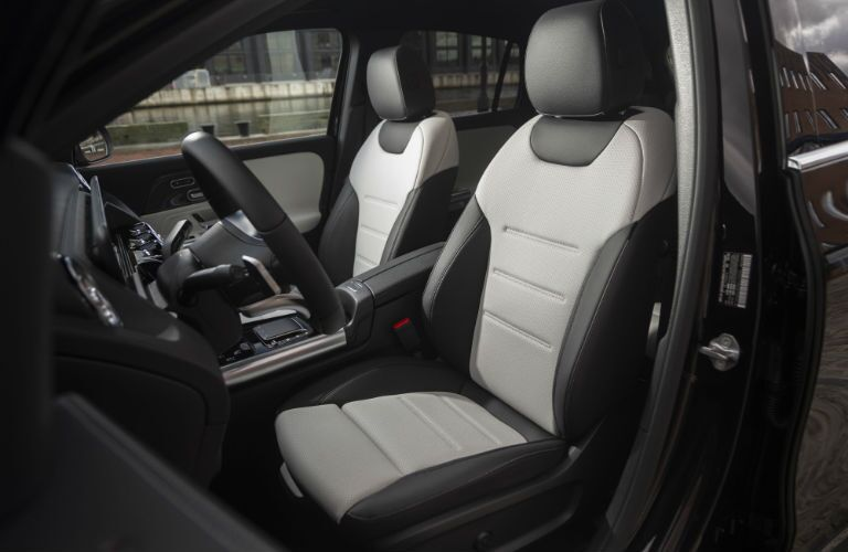 A photo of the front seats in the 2021 Mercedes-Benz GLA.