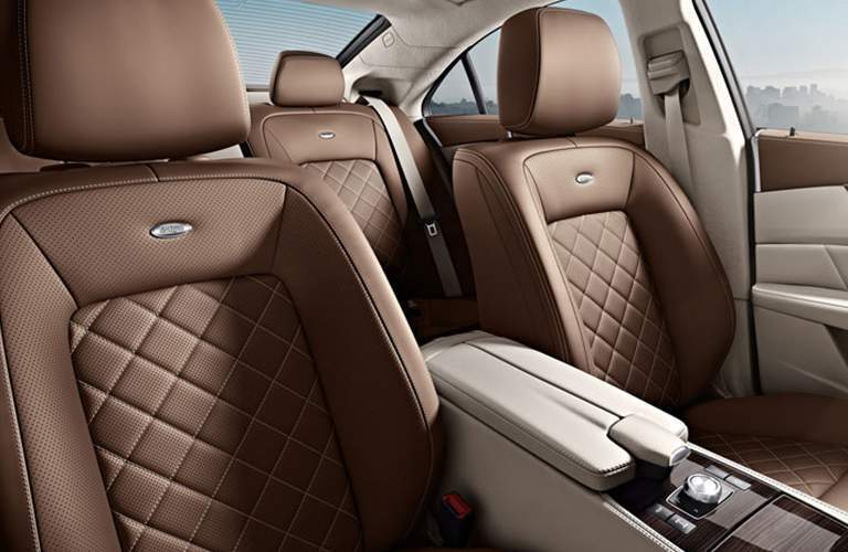 brown seats in the Mercedes-Benz CLS