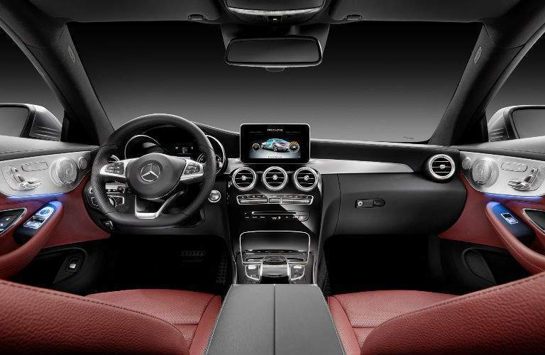 Front seats of the 2018 Mercedes-Benz C-Class coupe