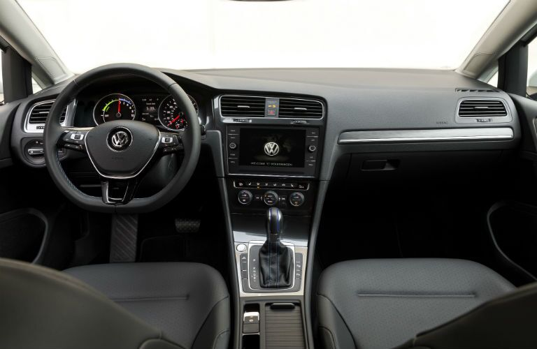 front interior of a 2019 VW e-Golf