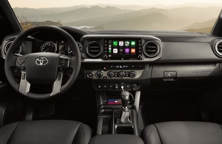 2021 Toyota Tacoma interior dash and wheel