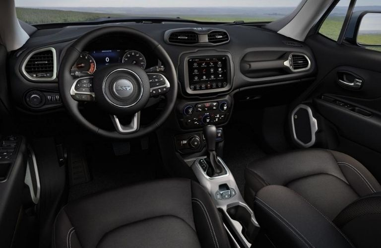 2020 Jeep Renegade interior dash and wheel