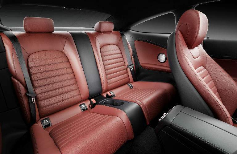 Rear seats in the 2018 C-Class Coupe