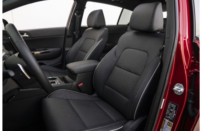 2021 Kia Sportage interior shot front seating upholstery