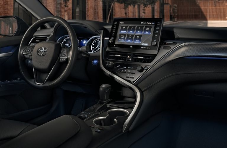 2021 Toyota Camry interior dash and wheel