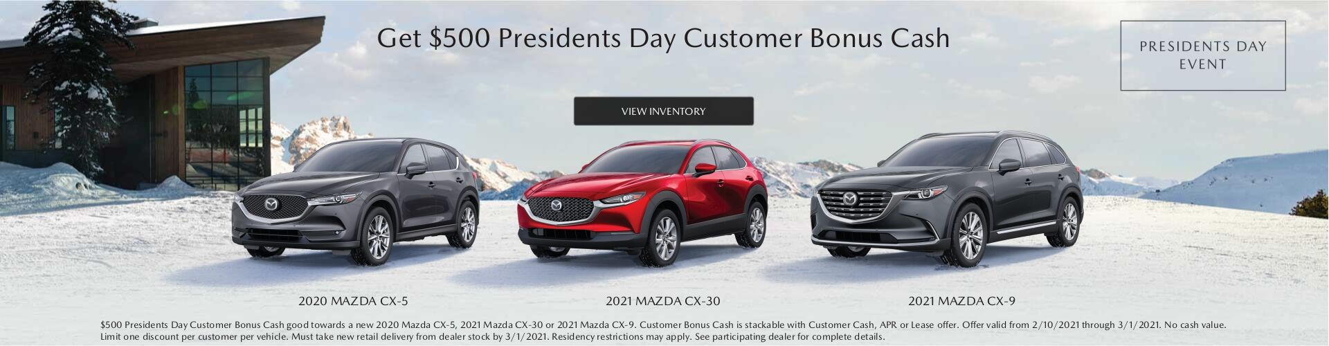 President's Day Customer Bonus Cash Feb 2021