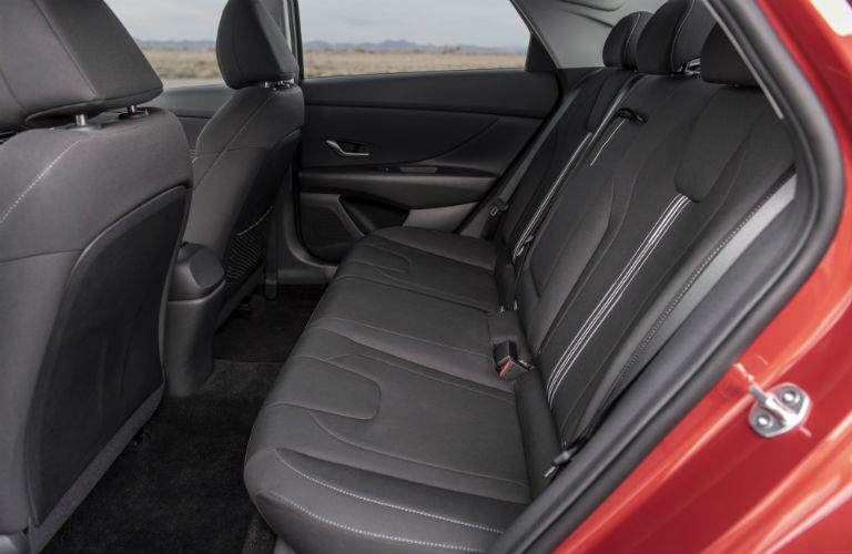 2021 Hyundai Elantra interior rear cabin side view seats