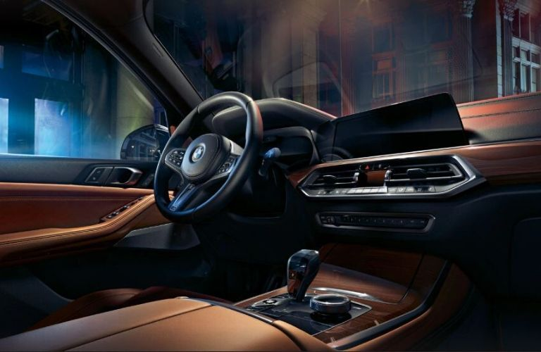 2020 BMW X5 dash and wheel view