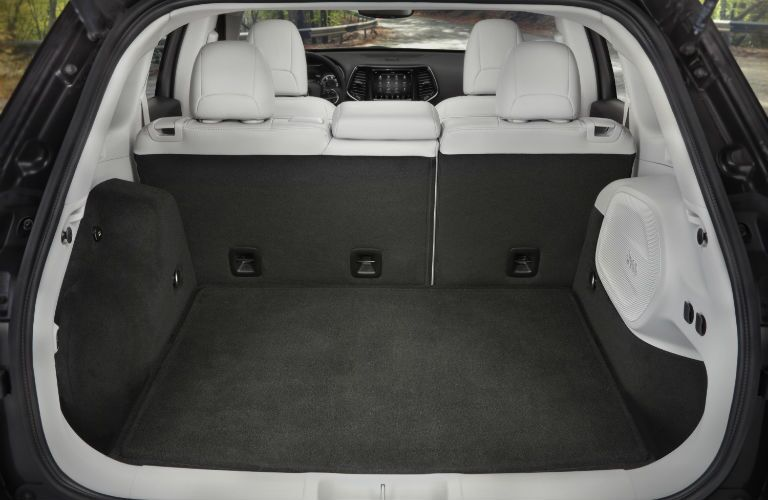 A photo of the cargo area in the 2020 Jeep Cherokee.