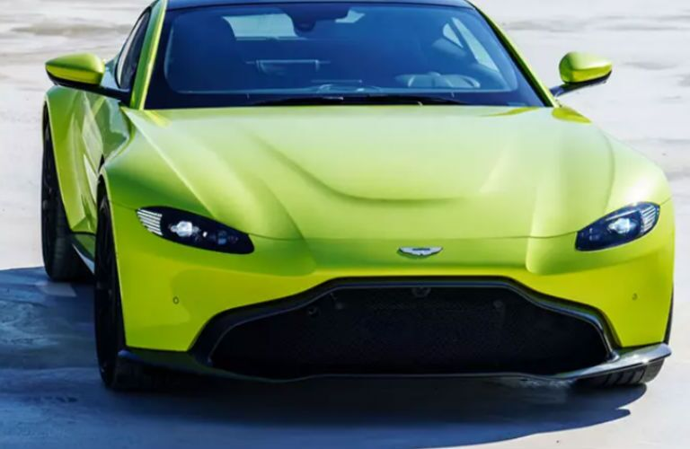 2020 Aston Martin Vantage in yellow