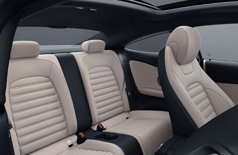 2021 MB C-Class Coupe interior rear seats