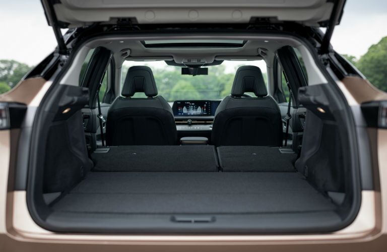 A photo of the cargo area in the 2021 Nissan Ariya.