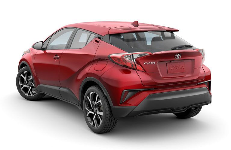 rear view of red 2020 Toyota C-HR