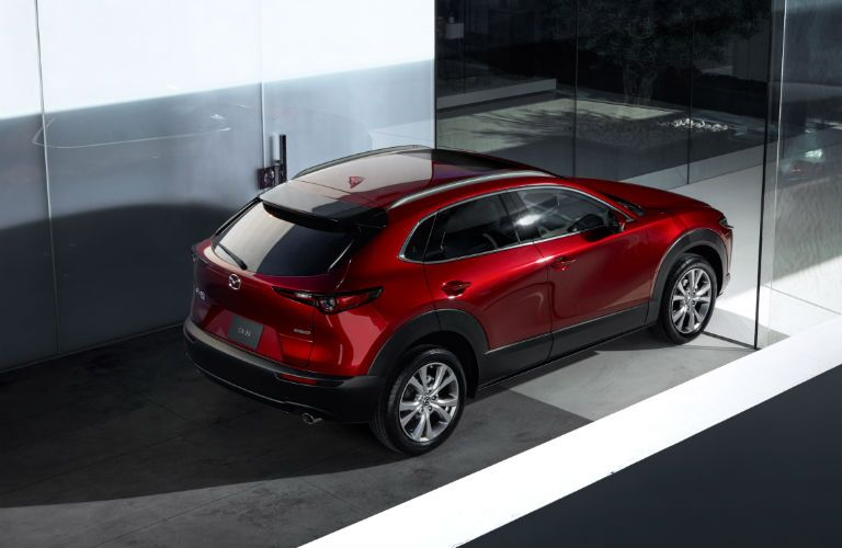 An overhead photo of the 2020 Mazda CX-30.