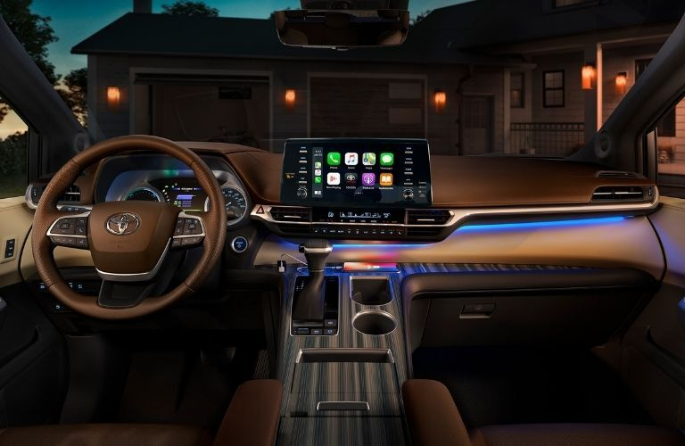 2021 Toyota Sienna interior dashboard and infotainment