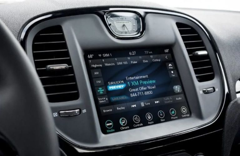 2021 Chrysler touchscreen view