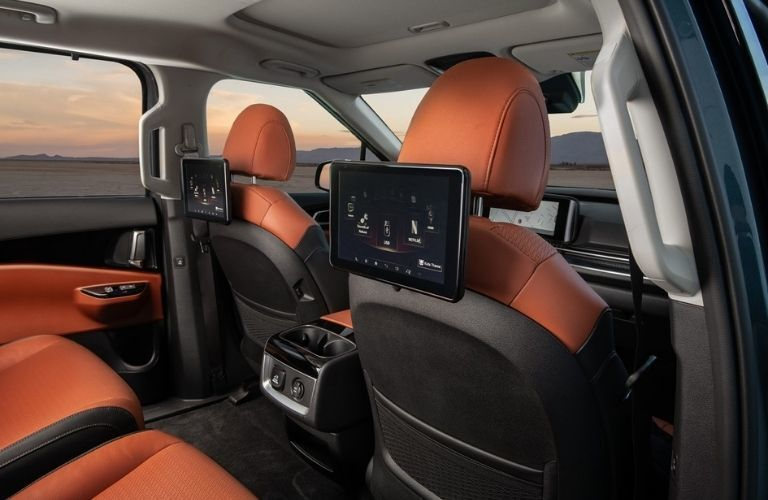 Rear seat entertainment in 2022 Kia Carnival