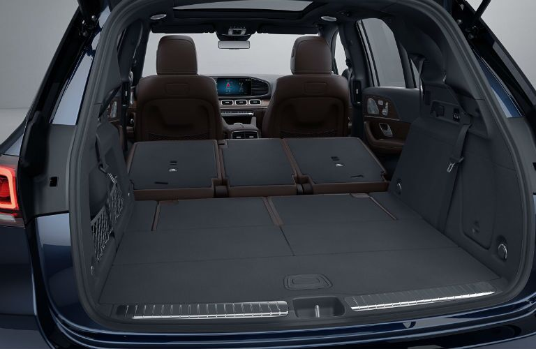 A photo of the maximum cargo configuration in the 2021 Mercedes-Benz GLE SUV.