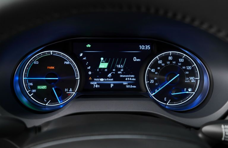 A photo of the gauge cluster used by the 2021 Toyota Venza.