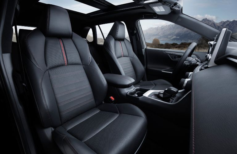 seating in the 2021 Toyota RAV4 Prime