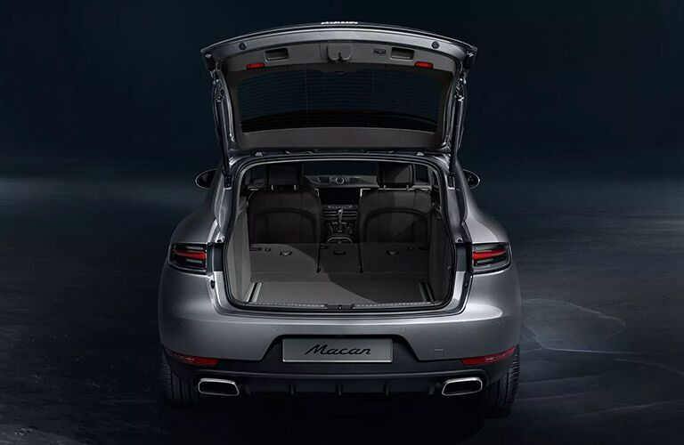 cargo space inside the 2020 Porsche Macan