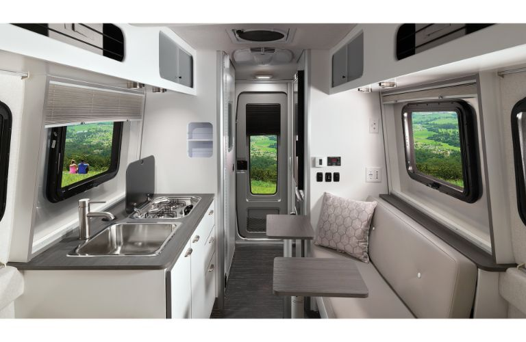 The interior of the 2020 Airstream Nest.