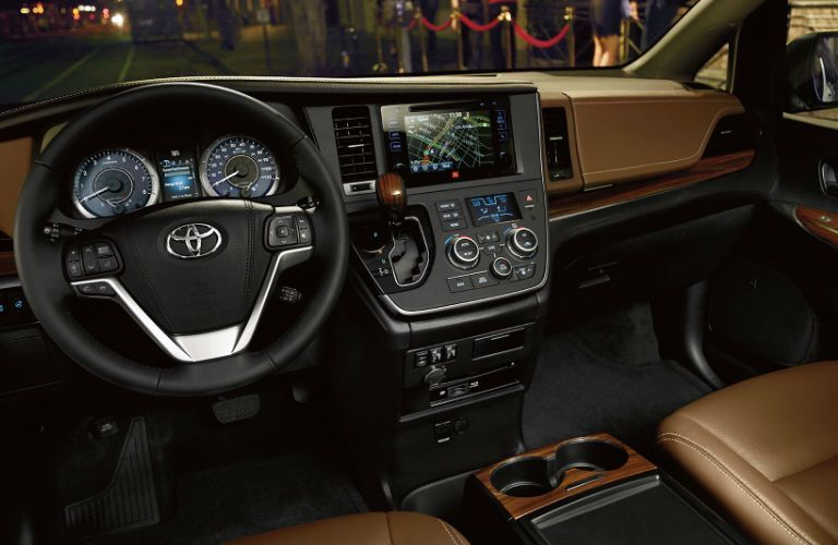 Dashboard of the 2017 Toyota Sienna