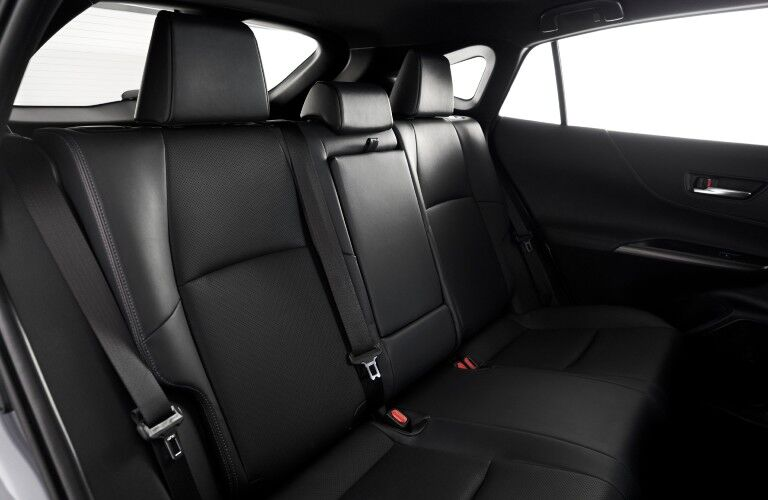 A photo of the rear seats in the 2021 Toyota Venza.