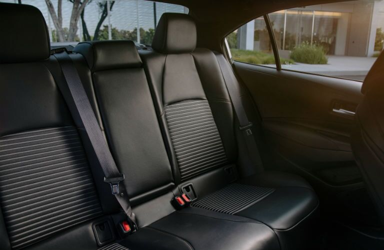 A photo of the rear seats in the 2021 Toyota Corolla.