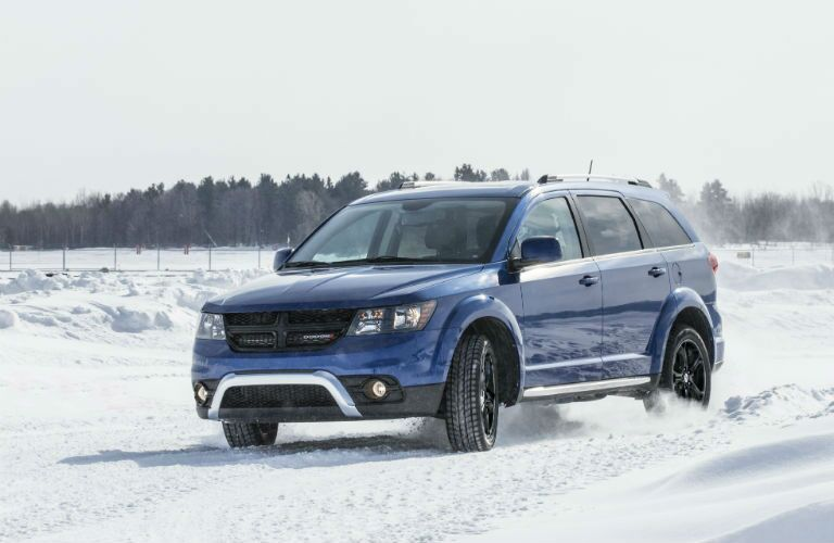 2020 Dodge Journey going through the snow