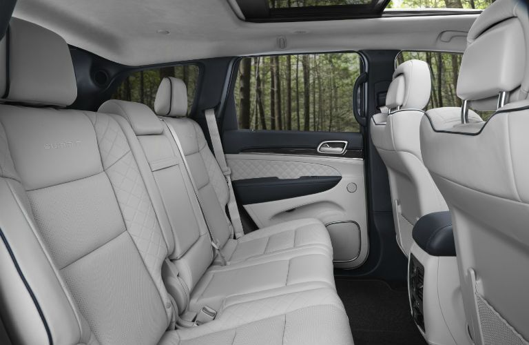 A photo of the rear seats in the 2020 Jeep Grand Cherokee.