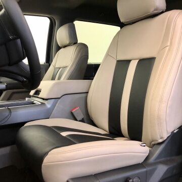 Custom Leather seating of Sherwood Ford's Retro Edition Ford F-150