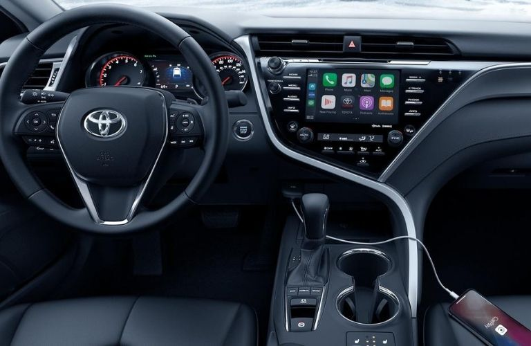 2020 Toyota Camry dash and wheel