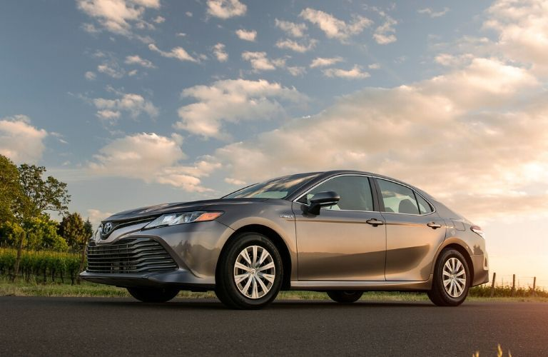 2020 Toyota Camry Hybrid at sunset