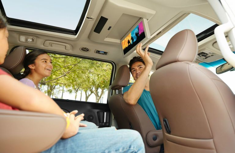 Family inside the cabin of the 2017 Toyota Sienna