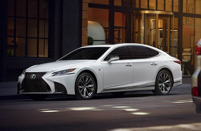 2020 Lexus LS F Sport parked on road