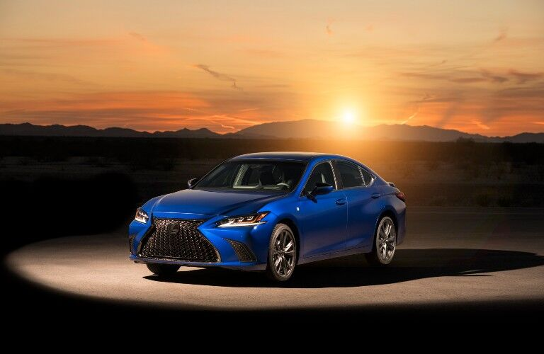 2021 Lexus ES in front of sunset