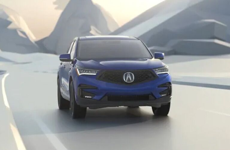 2021 Acura RDX in blue