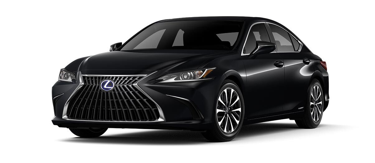 Exterior of the Lexus ES 300h shown in Obsidian.