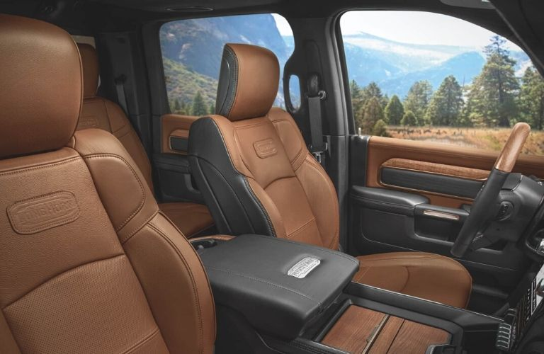 Front seats of 2020 Ram 3500 Long Horn