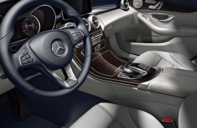Steering wheel in the 2019 Mercedes-Benz C 300 sedan
